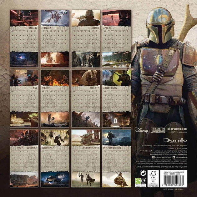 Kalendář Star Wars: The Mandalorian 2021