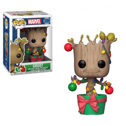 Figurka Guardians of the Galaxy - Holiday Groot with Lights & Ornaments (Funko POP! Marvel 399)