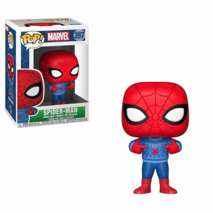 Figurka Marvel - Spider-Man Holiday Ugly Sweater (Funko POP! Bobble-Head)