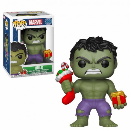 Figurka Marvel - Holiday Hulk with Stockings and Plush (Funko POP! Marvel 398)