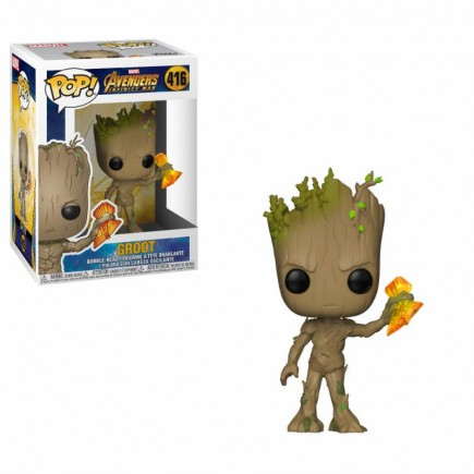 Figurka Avengers: Infinity War - Groot with Stormbreaker (Funko POP!)