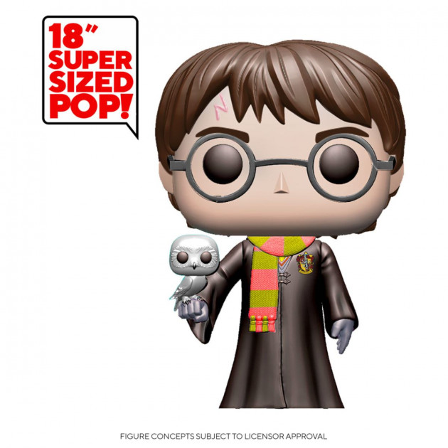 Figurka Harry Potter - Harry Potter with Hedwig (Funko Super Sized POP! Movies)