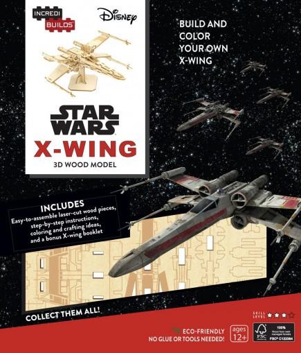 Stavebnice Star Wars - X-Wing (dřevěná)