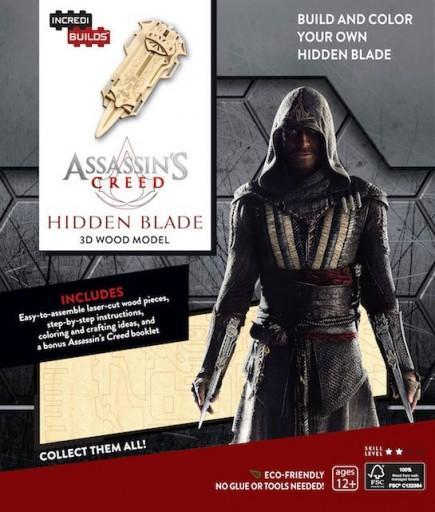 Assassin's Creed IncrediBuilds 3D Wood Model Kit Hidden Blade