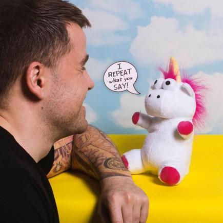 Plyšák Unicorn - Mluvící