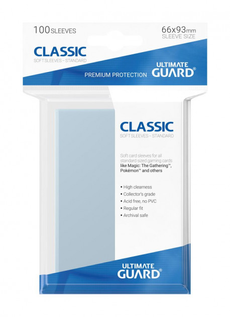 Ochranné obaly na karty Ultimate Guard - Classic Soft Sleeves Standard (100)
