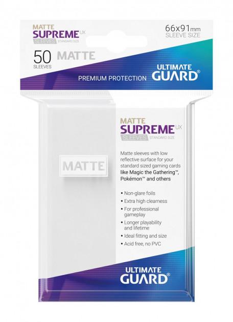 Ochranné obaly na karty Ultimate Guard - Supreme UX Sleeves Standard Matte White (50 ks)
